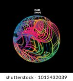 moving colorful lines of... | Shutterstock .eps vector #1012432039