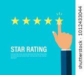 star rating  businessman hand...   Shutterstock .eps vector #1012433044