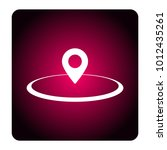 location sign icon | Shutterstock .eps vector #1012435261