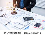 scales of justice and judge... | Shutterstock . vector #1012436341