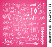 hand drawn lettering elements ... | Shutterstock .eps vector #1012436461
