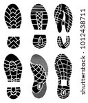 footprint icons isolated on... | Shutterstock .eps vector #1012438711