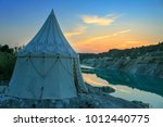 Medieval Camp On The Lake Shor...