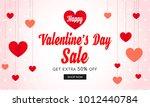 valentine's day sale banner... | Shutterstock .eps vector #1012440784