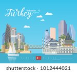 turkey vector vacations... | Shutterstock .eps vector #1012444021