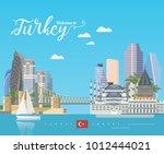 turkey vector vacations... | Shutterstock .eps vector #1012444021
