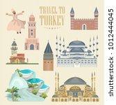 turkey vector vacations... | Shutterstock .eps vector #1012444045