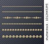 realistic golden pearl on... | Shutterstock .eps vector #1012445395
