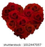 a bouquet of red roses in the... | Shutterstock .eps vector #1012447057