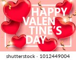 vector valentine's day design... | Shutterstock .eps vector #1012449004