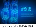 block chain. crypto currency.... | Shutterstock .eps vector #1012449184