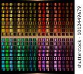 vector set of gradients.... | Shutterstock .eps vector #1012449679