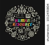 human resource colorful... | Shutterstock .eps vector #1012450804