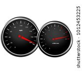 speedometer and a red... | Shutterstock .eps vector #1012453225