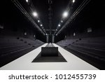 empty hall for fashion shows... | Shutterstock . vector #1012455739