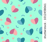 vector seamless pattern with... | Shutterstock .eps vector #1012458061