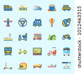 icons set about transportation... | Shutterstock .eps vector #1012463515