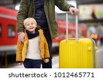 smiling little boy and his... | Shutterstock . vector #1012465771