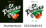 st. patrick's day celebration... | Shutterstock .eps vector #1012468141
