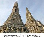 pagodas at temple of dawn  wat... | Shutterstock . vector #1012469539