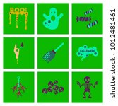 assembly flat icons halloween... | Shutterstock .eps vector #1012481461