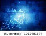 2d rendering stock market... | Shutterstock . vector #1012481974