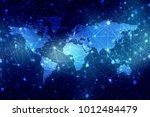 2d illustration world map... | Shutterstock . vector #1012484479