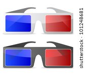 3d glasses | Shutterstock .eps vector #101248681