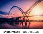 infinity bridge on dramatic sky ... | Shutterstock . vector #1012488631
