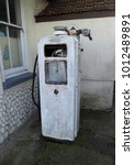 vintage petrol pump | Shutterstock . vector #1012489891