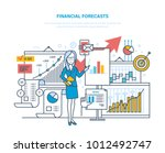 financial forecasts. marketing... | Shutterstock .eps vector #1012492747