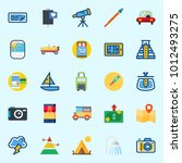 icons set about travel with... | Shutterstock .eps vector #1012493275