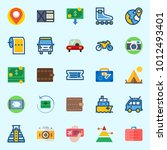 icons set about travel with... | Shutterstock .eps vector #1012493401