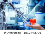concept image of human heart on ... | Shutterstock . vector #1012493701