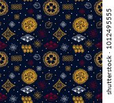 asian pattern. kabuki. japanese ... | Shutterstock .eps vector #1012495555