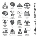business management icons pack...   Shutterstock . vector #1012501759