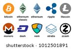 cryptocurrency logo set  ... | Shutterstock .eps vector #1012501891