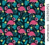 seamless pattern with a... | Shutterstock .eps vector #1012501921