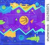 vector trendy seamless... | Shutterstock .eps vector #1012502071
