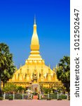 pha that luang temple  the... | Shutterstock . vector #1012502647