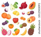 fruits vector fruity apple...   Shutterstock .eps vector #1012503091