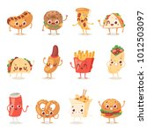 fast food smile vector cartoon... | Shutterstock .eps vector #1012503097