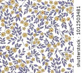 floral seamless pattern with...   Shutterstock .eps vector #1012503481