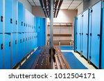 an empty locker room in the... | Shutterstock . vector #1012504171