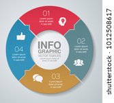 vector infographic template for ... | Shutterstock .eps vector #1012508617