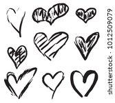 handdrawn hearts set | Shutterstock .eps vector #1012509079