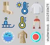 icons set about winter with...   Shutterstock .eps vector #1012510675