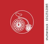 old bicycle with big wheel... | Shutterstock .eps vector #1012512085