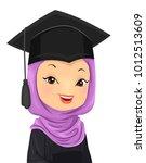 illustration of a graduating... | Shutterstock .eps vector #1012513609