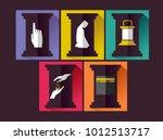 illustration of the five... | Shutterstock .eps vector #1012513717